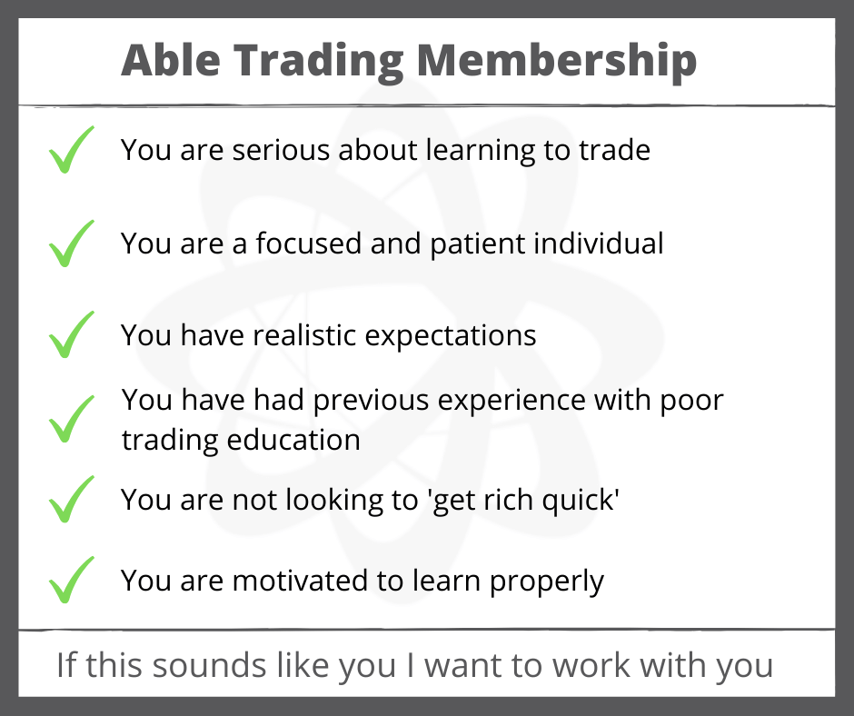 Able Trading Membership who is it for graphic